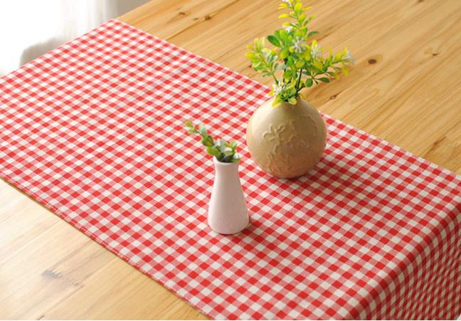 Mantel antimanchas cuadros sm decoraci n - Mantel para mesa exterior ...